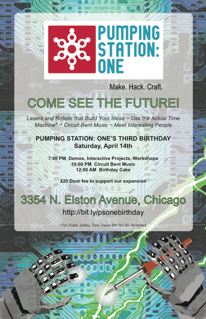 Pumping Station: One Third Birthday Poster
