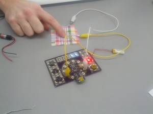 reactive fabric controlling LEDs