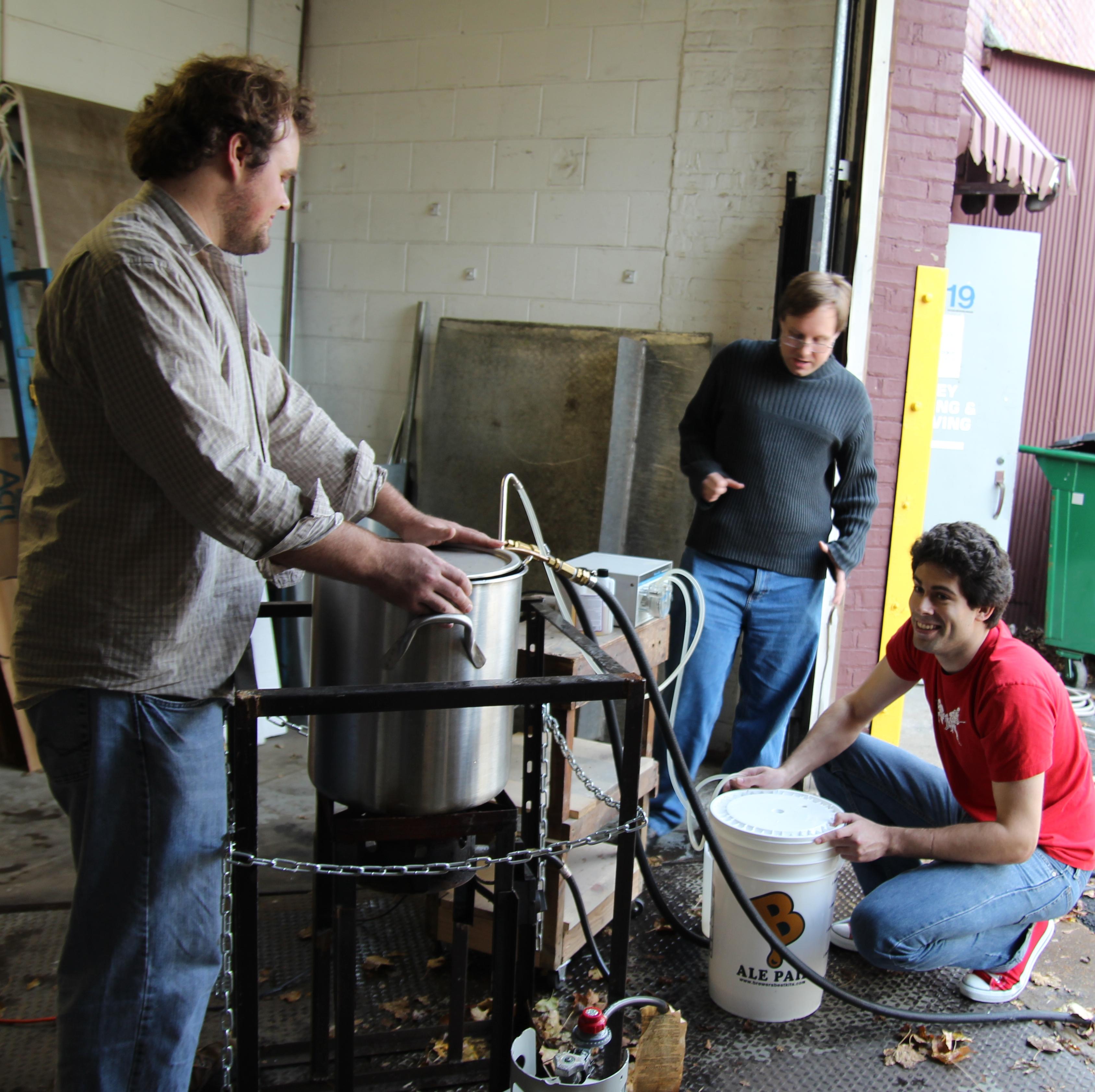 Brewing mead in November 2012