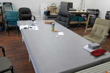 Table in it's normal state