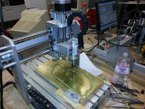 CNC routing brass