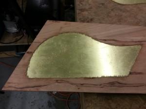 Brass inlay test fit