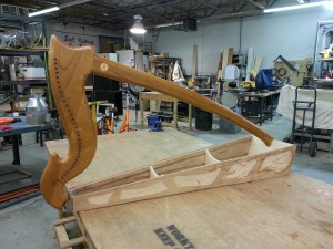 Side view of harp with pockets routed