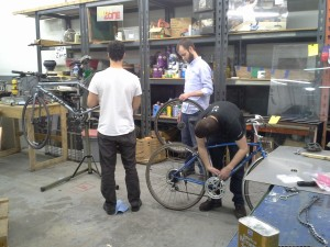 Bike maintenance at PumpingStation