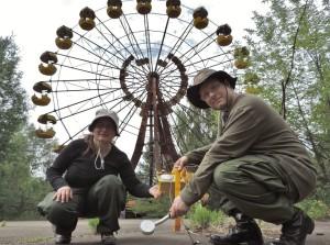 Elizabeth and Ryan in Pripyat