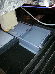 Control box in waterjet