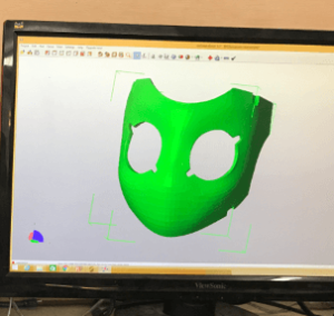 Drossel mask in Netfabb