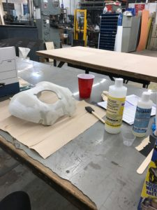 Drossel mask being prepped for XTC-3D application