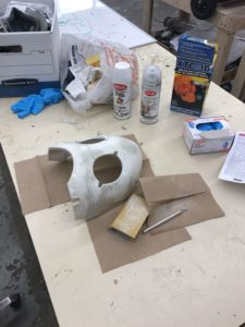 Drossel mask after initial XTC-3D application, sanded down
