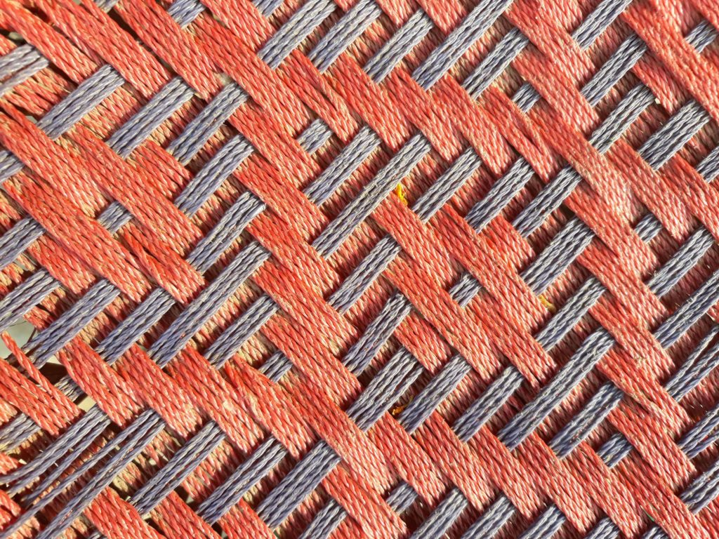 a woven mat using cord fibers
