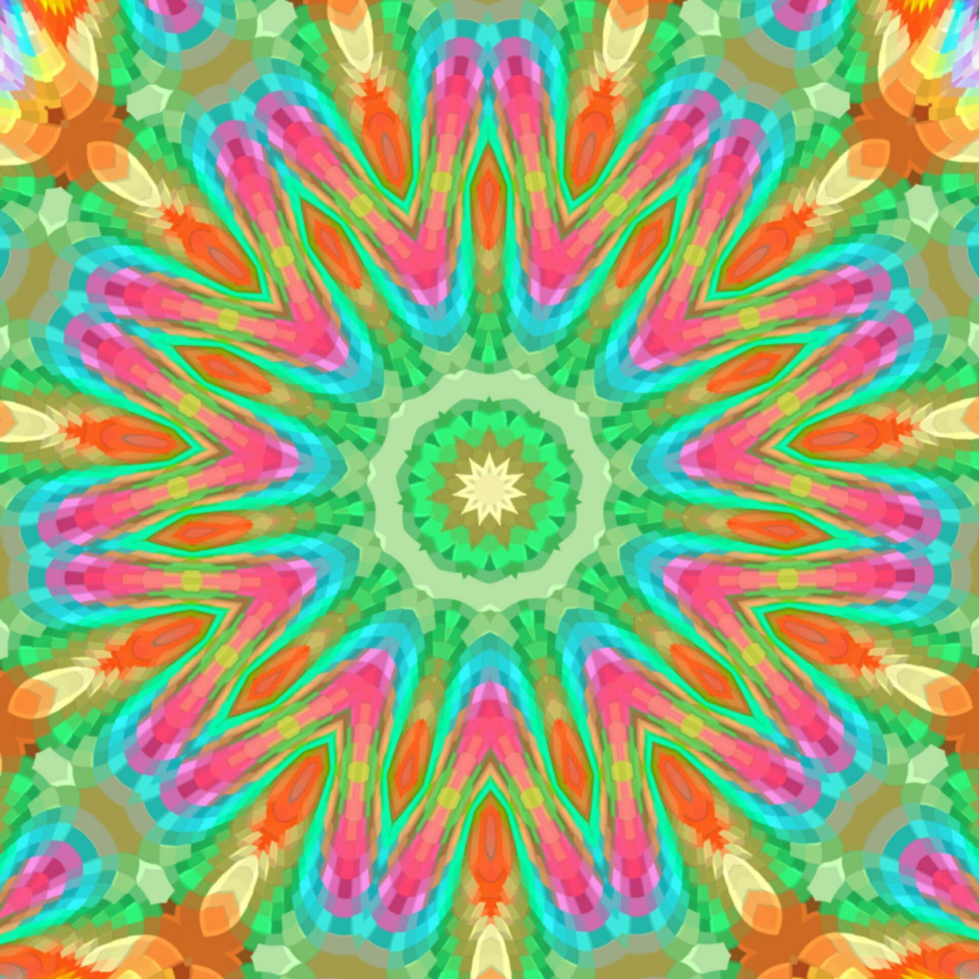 a digital artwork of a mandala