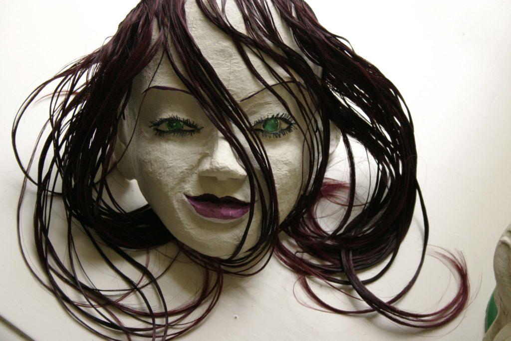 a papier-mâché mask